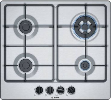 Bosch PGH6B5B60I Auto Stainless Steel Gas Hob (4 Burners, 60cm) Price in India