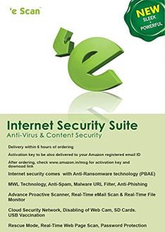 eScan Internet Security Version 11 1 PC 1 Year 1 PC Antivirus (Key Only) Price in India