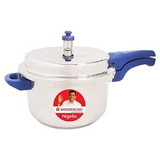 Wonderchef Nigella Stainless Steel 5 L Pressure Cooker (Induction Bottom,Outer Lid) Price in India