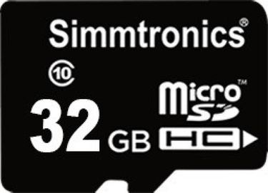 Simmtronics 32GB MicroSDHC Class 10 (90MB/s) Memory Card Price in India