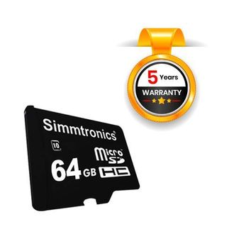 Simmtronics 64GB MicroSDHC Class 10 Memory Card Price in India