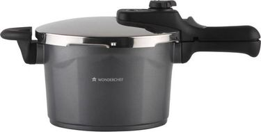 Wonderchef Black Swan Die-cast Aluminium 5 L Pressure Cooker with Induction Bottom(Outer Lid) Price in India