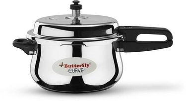 Butterfly Curve 5.5 L Pressure Cooker (Induction Base, Outer Lid) Price in India