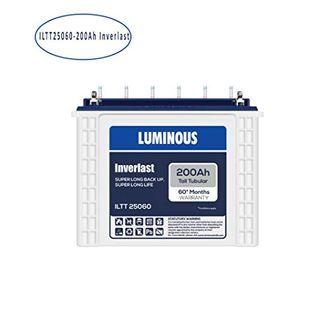 Luminous ILTT25060 Tubular Inverlast 200ah Battery Price in India