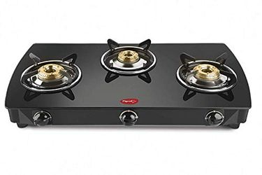 Pigeon Stovekraft Brunet 3 Burner Glass Top Gas Stove Price in India
