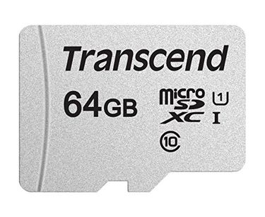 Transcend 64GB MicroSDXC Class 10 UHS-1 Memory Card(TS64GUSD300S) Price in India