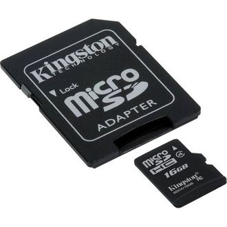 Kingston 16GB MicroSDHC Class 4 Memory Card (With Adapter) Price in India