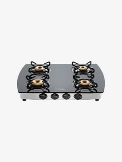 Hindware Primo Plus 4B Glass Stainless Steel Gas Stove (4 Burners) Price in India