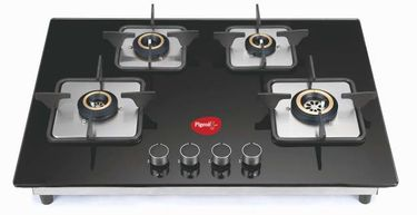 Pigeon Spark Hob Top Glass Automatic Gas Stove (4 Burners) Price in India