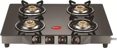 Pigeon Brunet Glass Manual Square Gas Stove (4 Burners) Price in India