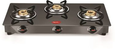 Pigeon Brunet Glass Manual Square Gas Stove (3 Burners) Price in India