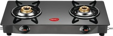 Pigeon Brunet Glass Manual Square Gas Stove (2 Burners) Price in India