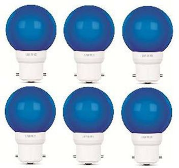 Luminous 0.5W Round B22 Led Bulb (Blue, Pack of 6) Price in India