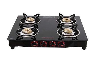 Butterfly Smart Glass Gas Cooktop (4 Burners) Price in India