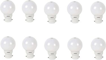 Oreva 1.2W Round B22 LED Bulb (White, Pack of 10) Price in India