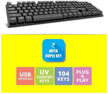 Zebronics Zeb-K44 USB Wired Keyboard Price in India