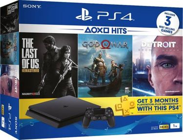 Sony PlayStation 4 1TB Console (with God of War, Detroit: Become Human, The Last of Us Remastered) Price in India