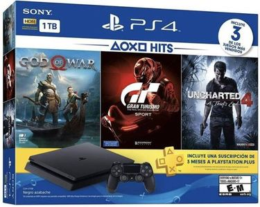 Sony PlayStation 4 1TB Console (with God Of War, Uncharted 4, GT Sport) Price in India