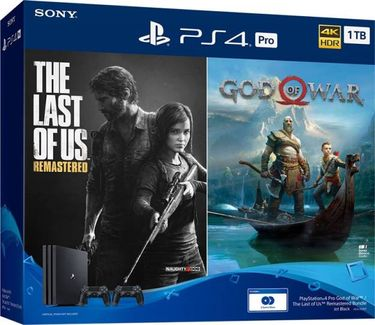 Sony PS4 Pro 1TB Console with Extra controller (The Last Of Us: Remastered, God of War) Price in India