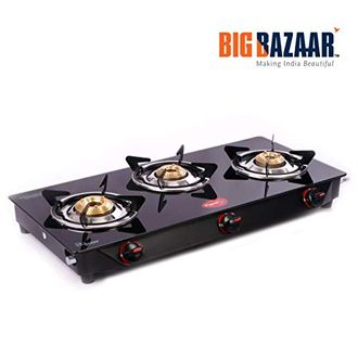 Pigeon Aster 3 Burner Stainless Steel Gas Stove Price in India