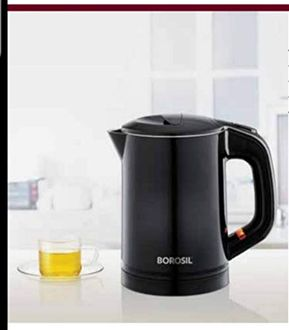 Borosil Eva Cool Touch 600ml Stainless Steel Kettle Price in India