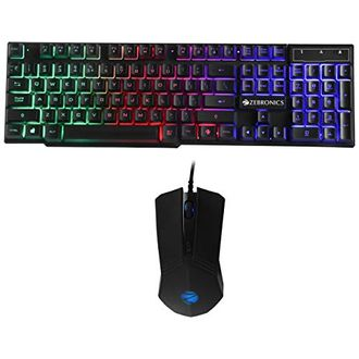 Zebronics Zeb-Fighter Gaming Keyboard and Mouse Combo Price in India