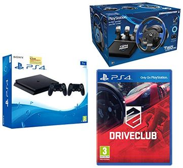 Sony PS4 1TB Slim Console (with Additional Controller & Thrustmaster T150 Pro & Drive Club) Price in India