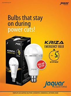 Jaquar 9 Watt Rechargeable Emergency LED Inverter Bulb (White) Price in India