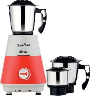 Greenchef Strobe 600W Mixer Grinder (3 Jars) Price in India
