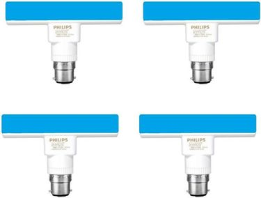 Philips 5W T-Bulb B22 LED Bulb (Blue, Pack of 4) Price in India