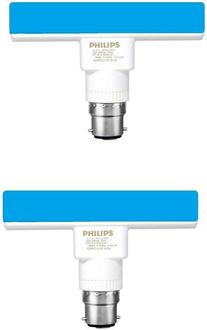 Philips 5W T-Bulb B22 LED Bulb (Blue, Pack of 2) Price in India