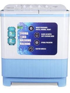 Croma 7.5 Kg Semi Automatic Top Load Washing Machine (CRAW2223) Price in India