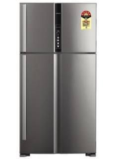 Hitachi R-V720PND1KX -(STS) 655 L 5 Star Direct Cool Double Door Refrigerator Price in India