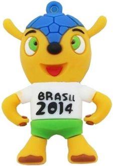 Microware Brasil 2014 Shape 4GB USB 2.0 Pen Drive Price in India