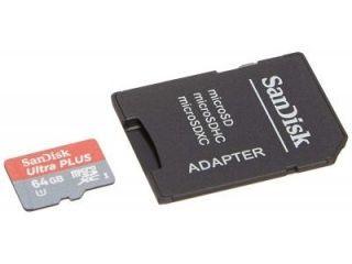 SanDisk SDSQUSC-064G 64GB Class 10 MicroSDXC Memory Card Price in India