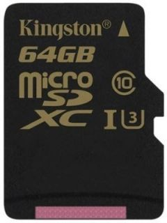 Kingston SDCG/64GB 64GB Class 10 MicroSDXC Memory Card Price in India