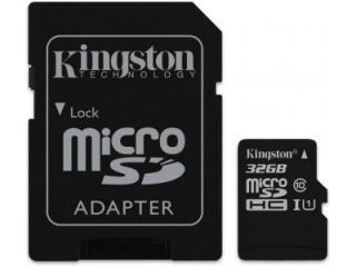 Kingston SDC10G2/32GB 32GB Class 10 MicroSDHC Memory Card Price in India