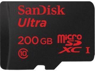 SanDisk SDSDQUAN-200G-A4A 200GB Class 10 MicroSDXC Memory Card Price in India
