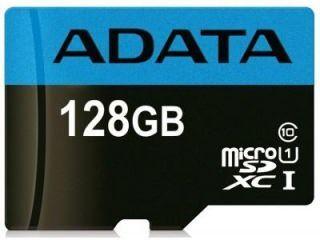 AData AUSDX128GUICL10 85-RA1 128GB Class 10 MicroSDXC Memory Card Price in India