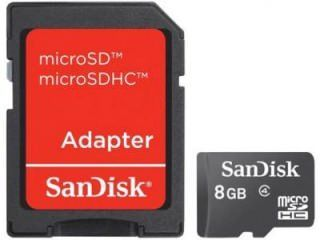 SanDisk SDSDQ-8192-A11M 8GB Class 4 MicroSDHC Memory Card Price in India