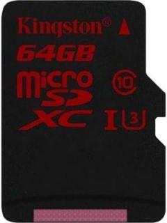 Kingston SDCA3/64GB 64GB Class 10 MicroSDXC Memory Card Price in India