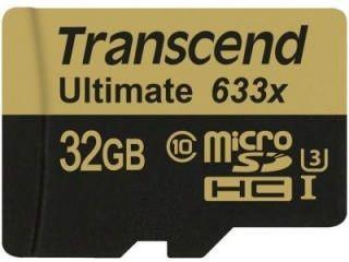 Transcend Ultimate TS32GUSDU3 32GB Class 10 MicroSDHC Memory Card Price in India