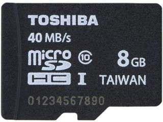Toshiba PFM008U-2DCK 8GB Class 10 MicroSDHC Memory Card Price in India