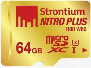 Strontium Nitro Plus 64 GB 64GB Class 10 MicroSDXC Memory Card Price in India
