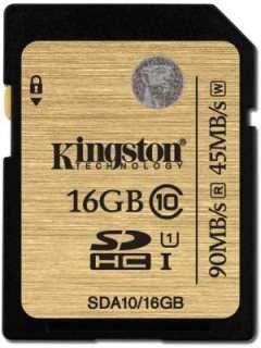 Kingston SDA10/16GB 16GB Class 10 MicroSDHC Memory Card Price in India