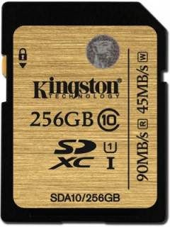 Kingston SDA10/256GB 256GB Class 10 MicroSDXC Memory Card Price in India
