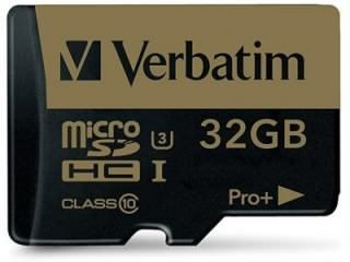 Verbatim 44033 32GB Class 10 MicroSDHC Memory Card Price in India