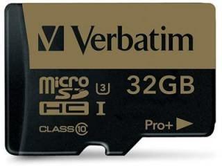 Verbatim 44033 32GB Class 10 MicroSDHC Memory Card Price in India