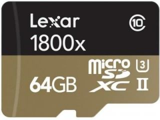 Lexar LSDMI64GCRBNA1800R 64GB Class 10 MicroSDXC Memory Card Price in India