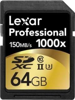 Lexar LSD64GCRBNA10002 64GB Class 10 MicroSDXC Memory Card Price in India
